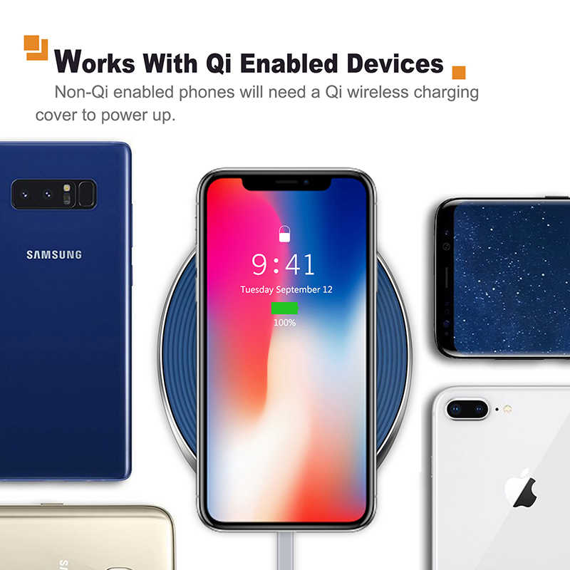 2019 Cabletime Charger Nirkabel untuk X/X/8 Samsung S9/S8 USB Charger Pad 10W Cepat ponsel Nirkabel Charger Pengisian Cepat C160