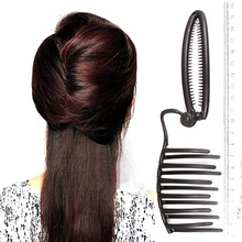 Women DIY Formal Hair Styling Updo Bun Comb And Clip Tool Set For Hair French Twist Maker Holder