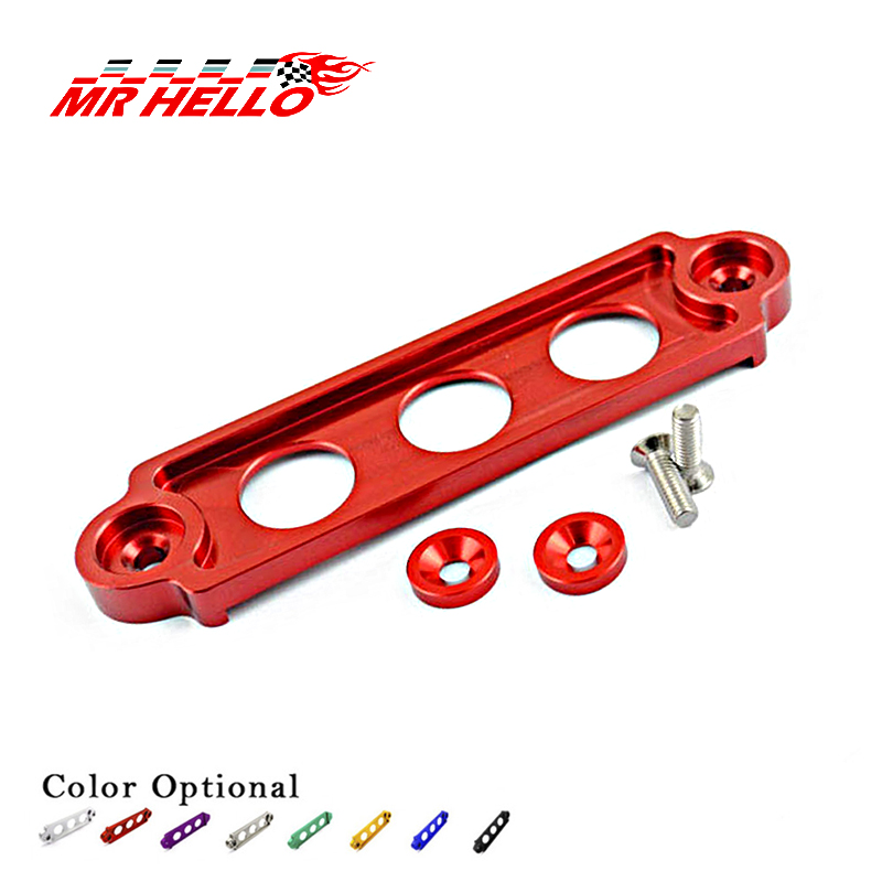 Color: Silver Engines /& Components Car Racing Battery Tie Down Hold Bracket Lock Anodized for JDM Honda Civic//CRX 88-00 Car Accessory PQY-BTD71