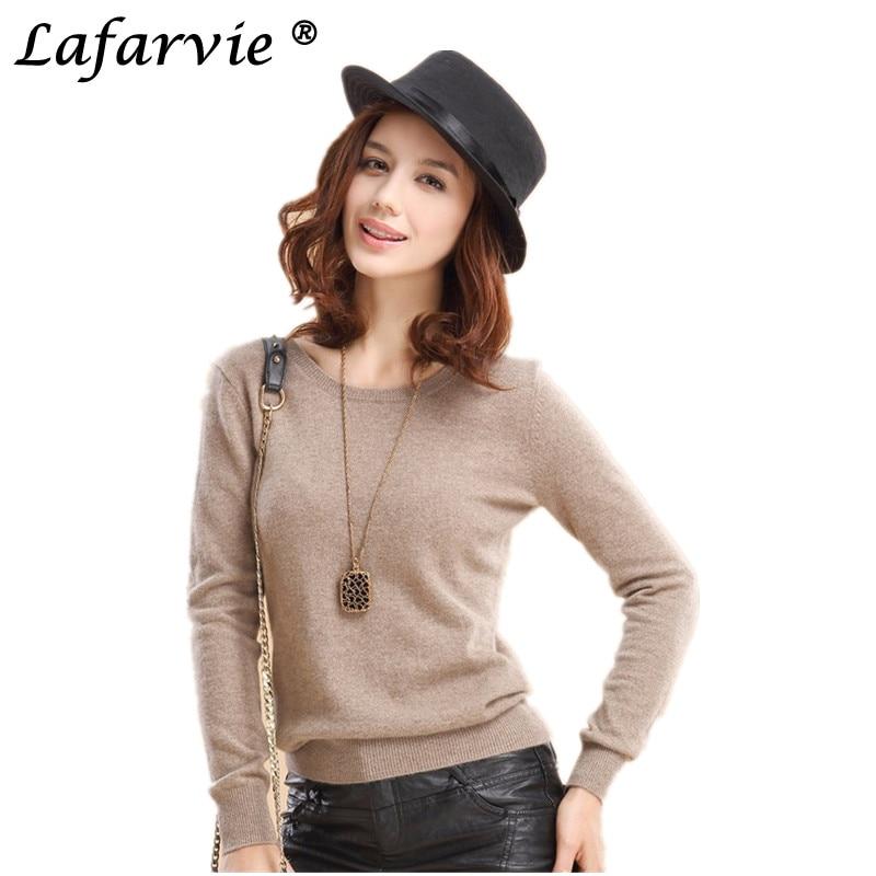 Lafarvie Off Sale Kaschmirmischung Strickpullover Frauen Tops Herbst - Damenbekleidung - Foto 1