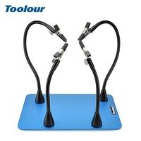 Toolour Magnetische Pcb Board Vaste Clip Flexibele Armen Solderen Derde Hand Rvs Base Pcb Houder Lassen Reparatie Tool