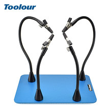 Toolour Soldering Iron Holder Soldering Station with Extremely Strong Magnetic Arm Stainless Steel Base PCB Welding Repair Tool(China)