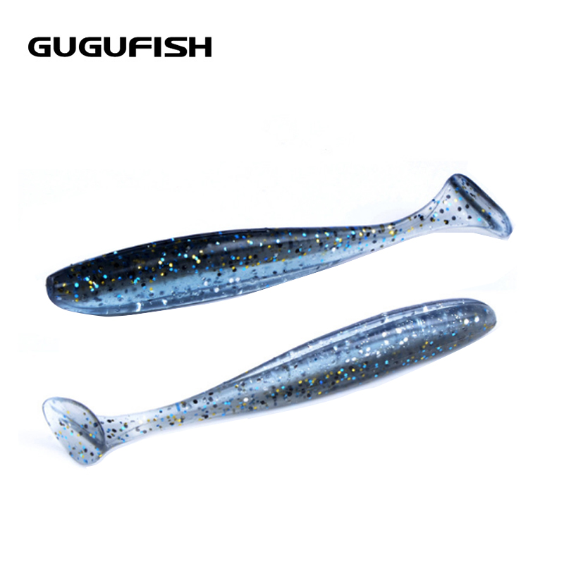 GUGUFISH Soft Lure 10cm /4.8g 7pcs/lot Swimbaits Artificial Bait Double color Carp Tackle Fly Fishing Fishing Lures 10pcs lot 7 5cm 2g soft bait worm swimbaits fishing lure fly fishing bait artificial 8 color silicone t tail lure fa 397