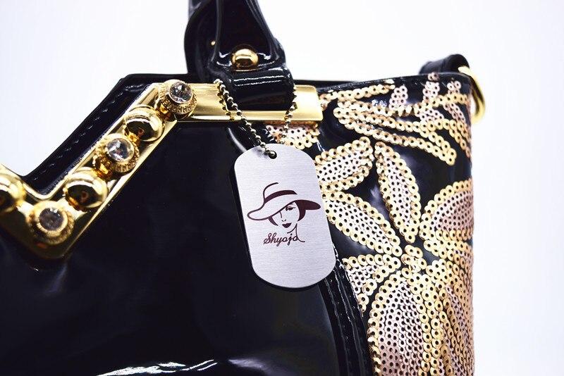 2018 bolso de hombro de cuero de patente bolsas de fiesta de noche - Bolsos - foto 5