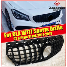 W117 CLA GTS grille grill ABS gloss black Fits For MercedesMB CLA180 CLA200 250 CLA45AMG Front Bumper Grills without sign 14-18