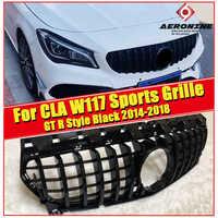 W117 CLA GTS grille grill ABS gloss schwarz Passt Für MercedesMB CLA180 CLA200 250 CLA45AMG Front Stoßstange Grills ohne zeichen 14-18