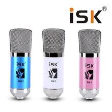 Original ISK Karaoke microphone RM-3 network K song Handheld Condenser microphone Broadcasting Recording Condenser Microphones