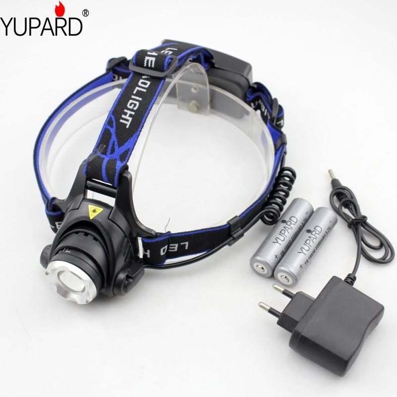 Φ_ΦYupard camping pesca al aire libre xm-l T6 LED faro recargable ...