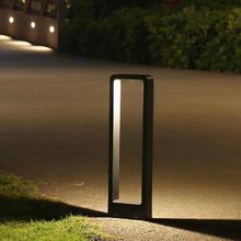IP65 Водонепроницаемый 15 Вт COB светодиодный садовый Газон лампа современный алюминиевый световой столб наружный внутренний дворик дачный пейзаж газон блокираторы света