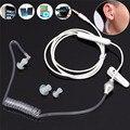 Nueva 3.5mm monoaural estéreo muelle de aire conducto auriculares con gancho auricular contra la radiación para el iphone todo el teléfono móvil mp3 mp4