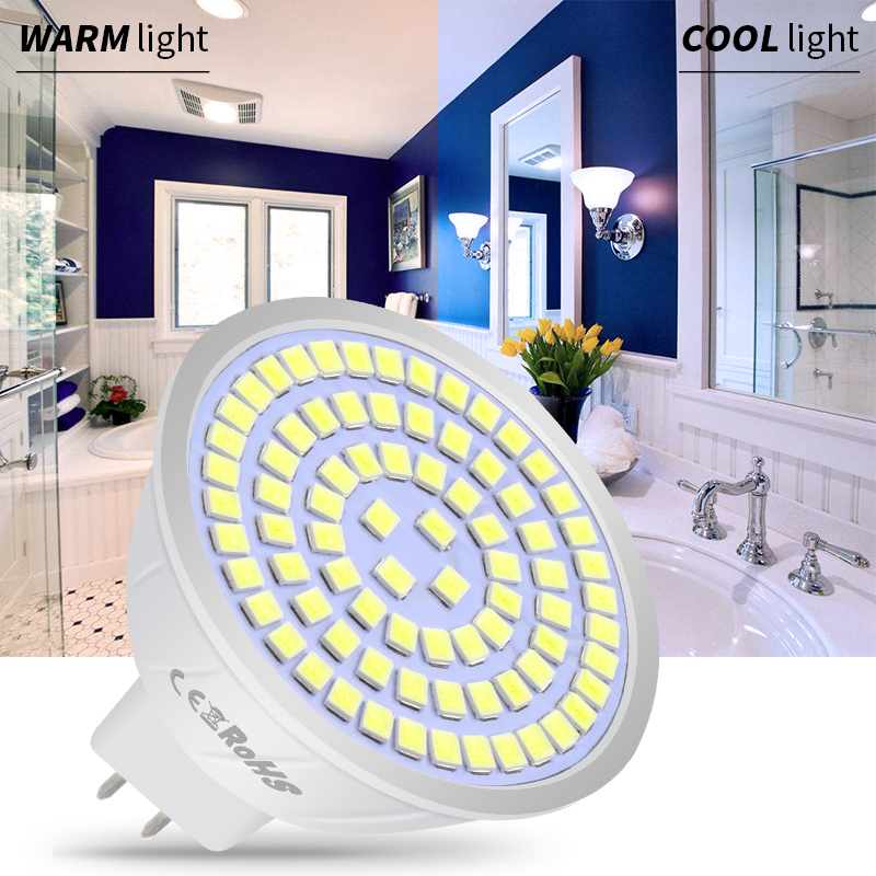 Spotlight E27 LED Bulb 5W E14 Corn Bulb GU10 Lampka LED Spot Light GU5.3 MR16 48leds Lamp 220V Ampoule B22 Home Lighting 2835SMD