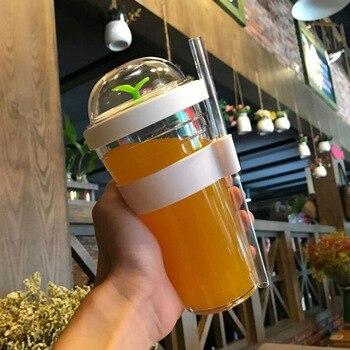 12 унций 16 унций пузырчатая кружка для заваривания чая портативный пластиковый высокий стакан с соломинкой многоразовая пластиковая чашка для Пузырькового чая Боба стакан