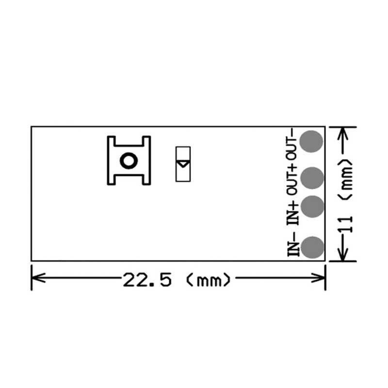 QIACHIP جهاز استقبال لاسلكي صغير للتحكم عن بعد تيار مستمر 3.5 فولت 3.7 فولت 4.5 فولت 5 فولت 6 فولت 7.4 فولت 8.4 فولت 9 فولت 12 فولت جهاز إرسال واستقبال 433.92 ميجاهرتز