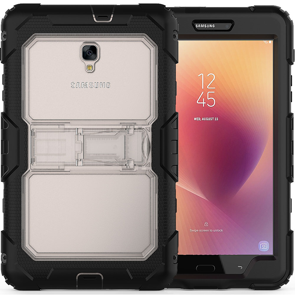 Coque Case for Samsung Galaxy Tab A 8.0 T380 T385 Tablet 3 in 1 Hybird Armor PC Silicone Cases Kid Shockproof Stand Cover Capa case for huawei honor 7x shockproof with stand 360 rotation back cover contrast color hard pc