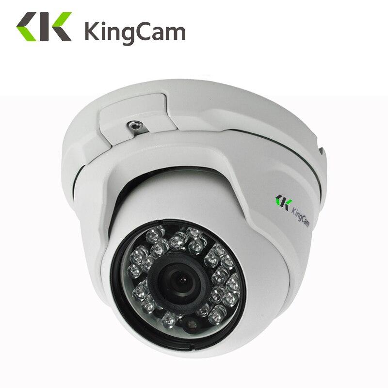 "KingCam מתכת אנטי ונדלה POE IP מצלמה 2.8 מ""מ עדשה רחב זווית 1080 p 960 p 720 p אבטחה ONVIF CCTV מעקב 6 מ""מ כיפת IP מצלמת"