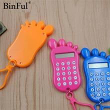 BinFul канцелярская карточка Портативный Калькулятор Мини Ручной ультра-тонкий карточный калькулятор мощность маленький тонкий Калькулятор Монета батареи