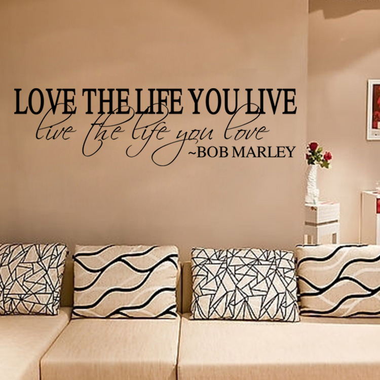 Aw9510 ove quote wall decals decorations living room - Wall sticker ideas for living room ...