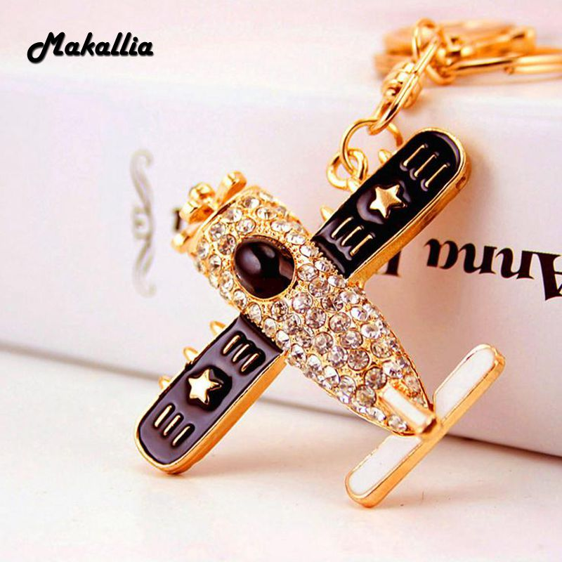 Fashion high quality genuine key chain delicate cute cartoon fashion high quality genuine key chain delicate cute cartoon propeller aircraft key chain keychain gift pendant accessories in key chains from jewelry mozeypictures Gallery