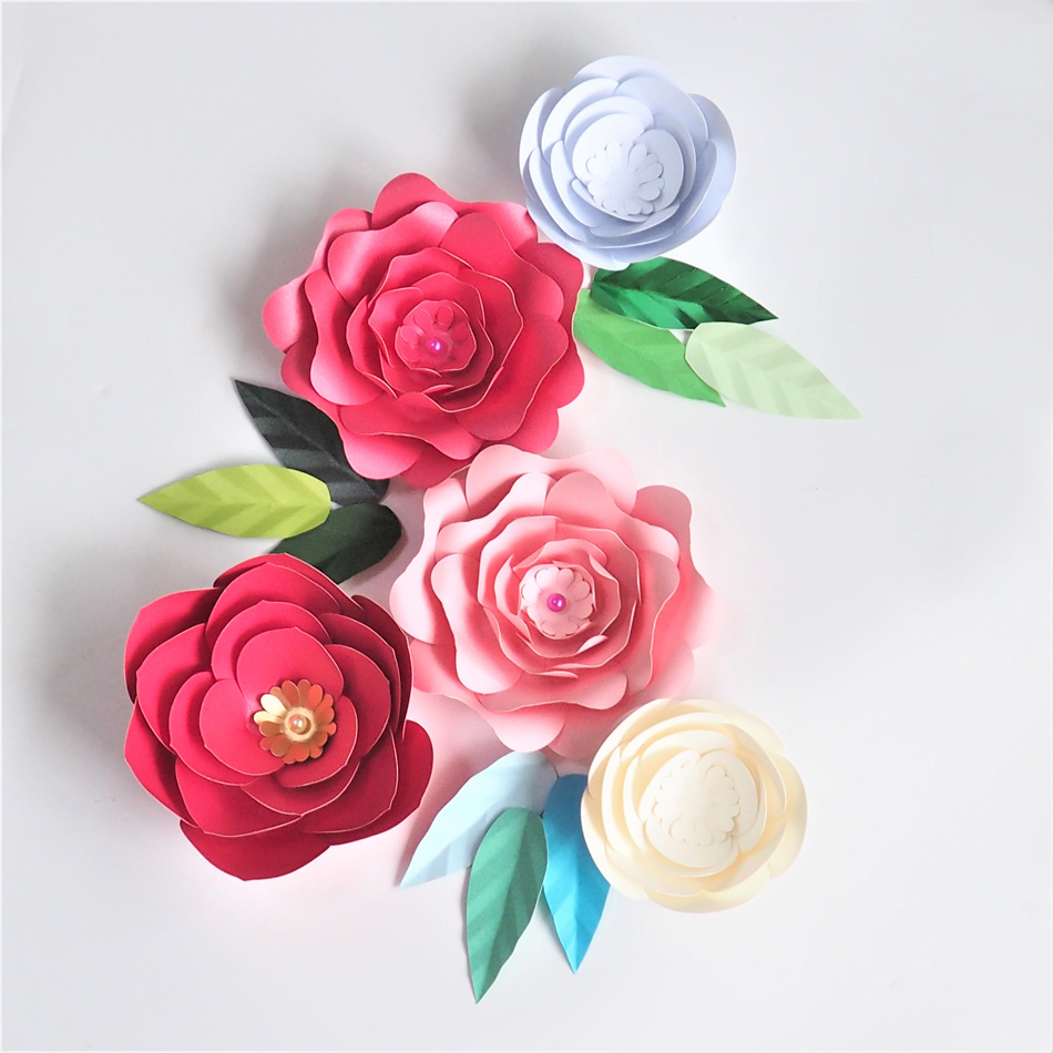 Aliexpress Buy Diy Giant Paper Flowers Artificial Rose Fleurs