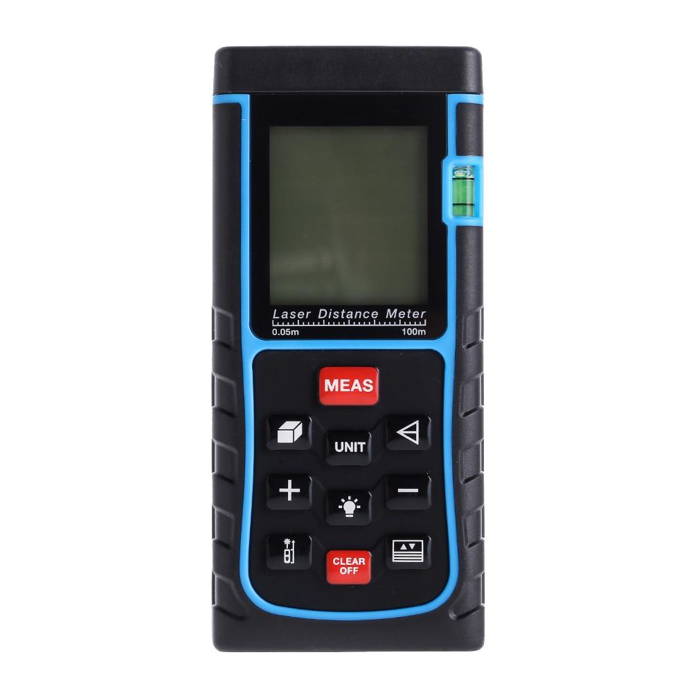 100M 3937IN 328FT Digital Laser Distance Meter Tape Range Finder Measure Diastimeter Device Ruler Test Tool #LO