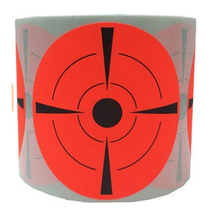 """(Qty 250pcs 3"""") Shooting  Targets ,We Offer the Highest Quality Adhesive Shooting Targets Fluorescent Orange Label"""