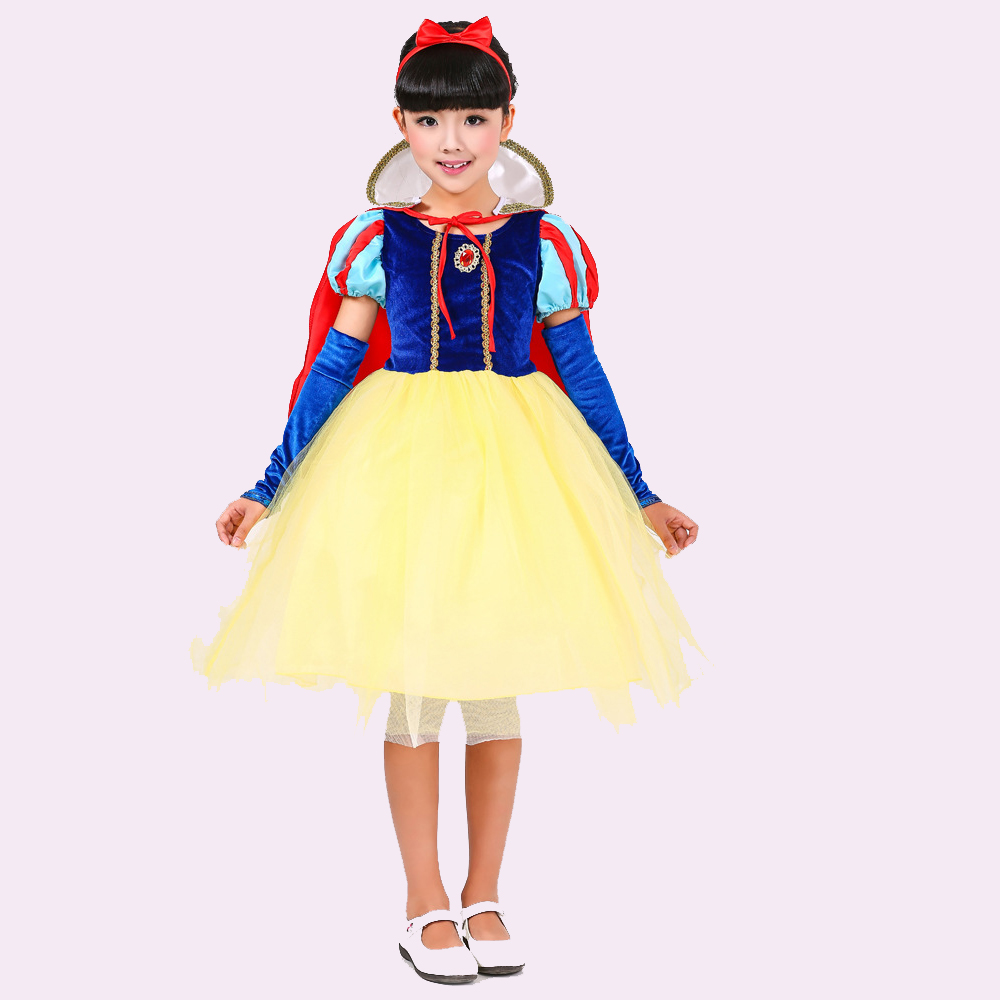Girls Dresses Children Cosplay Dresses Party Halloween Costume Brand kids Dress Snow White Princess Brand Prom Designs Clothes