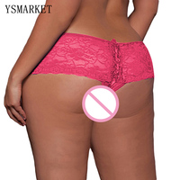 New Women S Panties Plus Size 5XL 6XL With Full White Flower Lace Open Crotch Gauze