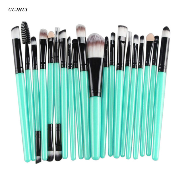 rose makeup brushes. gujhui 20 pcs rose gold makeup brushes set professional eyebrow blush foundation hair brush pen eyeshadow