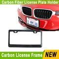 Реальные Углеродного волокна + ABS рамка номерного знака Свет вес держатель номерного знака/автомобиль рамка номерного знака для автомобиля YC100551