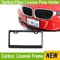 Real Carbon fiber + ABS  license plate frame  Light weight license plate holder /car number plate frame for car YC100551