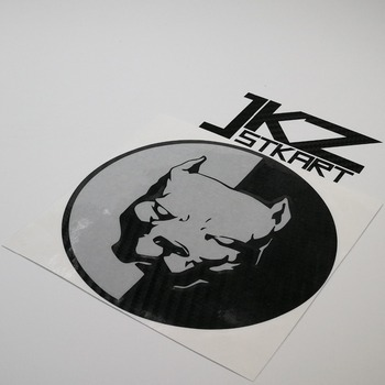 Calcomanías de vinilo de múltiples capas troqueladas de JKZ STKART, cara de perro Pit Bull para ATV, moto, camión, casco, pegatinas decoradas
