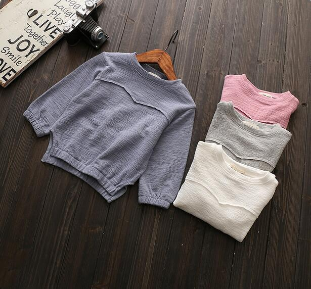 2018 autumn childrens clothes girls t-shirts casual solid long sleeve baby girl t-shirts for girls kids casual tshirt tops