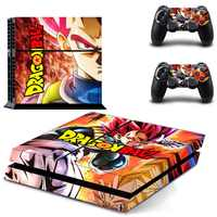 Bola de Dragón Vinilo PS4 Pegatinas Play station 4 Skin Sticker para Sony PlayStation4 PS 4 consola y control Skins Pegatinas