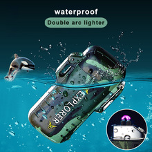 Waterproof Lighter Lighters Double Arc USB Charging Outdoor Electric Electronic Encendedor Mini Portable Isqueiros