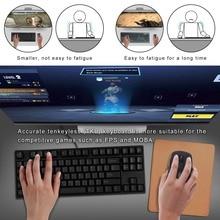 цена на GANSS PBT- Tenkeyless Gaming Mechanical Keyboard, Cherry MX Blue Switches(Black)