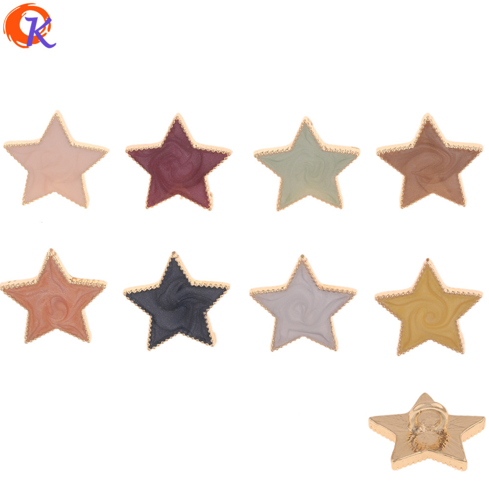 Cordial Design 50Pcs 17*18MM Hair Accessories/DIY Jewelry Making/Paint Effect/Star Shape/Hand Made/Jewelry Findings Component(China)