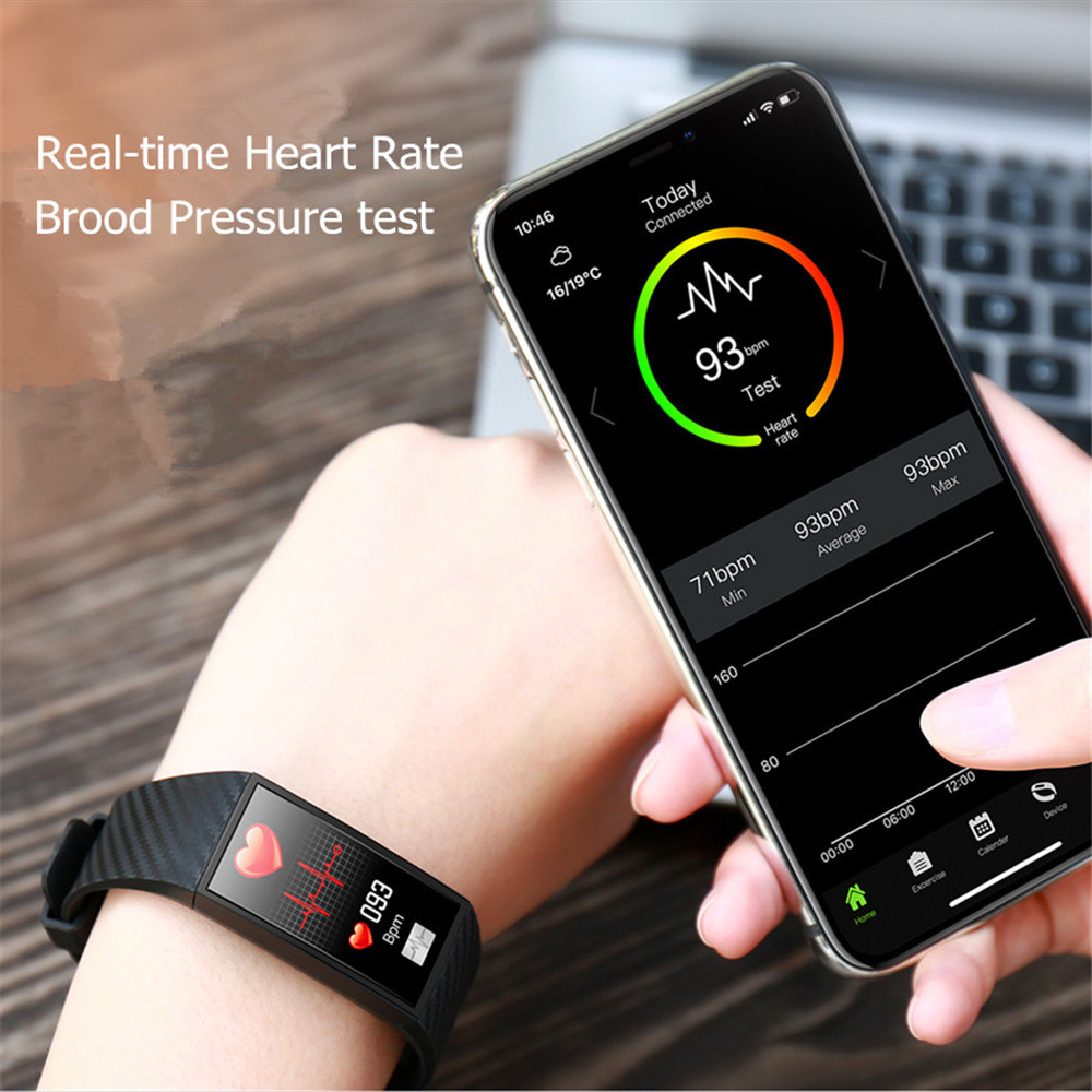 Smart Wristbands Large Screen Smart Band ECG Heart Rate Blood Pressure Monitor (3)