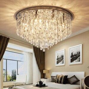 Image 4 - מודרני נברשת קריסטל תאורה סומק הר נברשות אור עבור עבור סלון אוכל חדר שינה אולם מסעדת מלון דקור