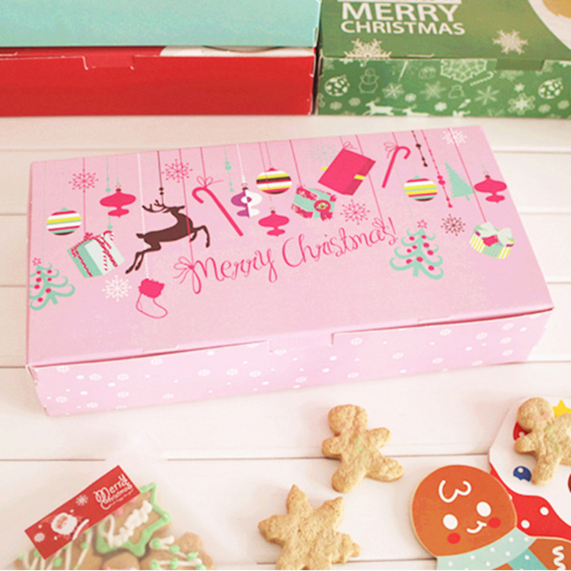 Wedding Gifts For Children: 2018 Kawaii Christmas Decor Gift Box Pink Cookie Package