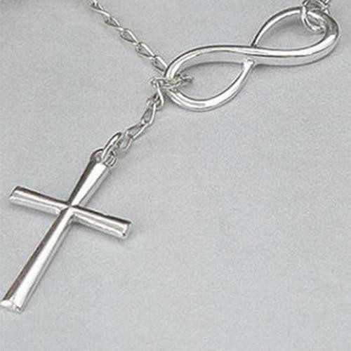 12 pz/lotto Brand New Simple 8 delle Donne A Forma di Croce Dichiarazione Del Collare Del Choker Della Catena Sottile Collana