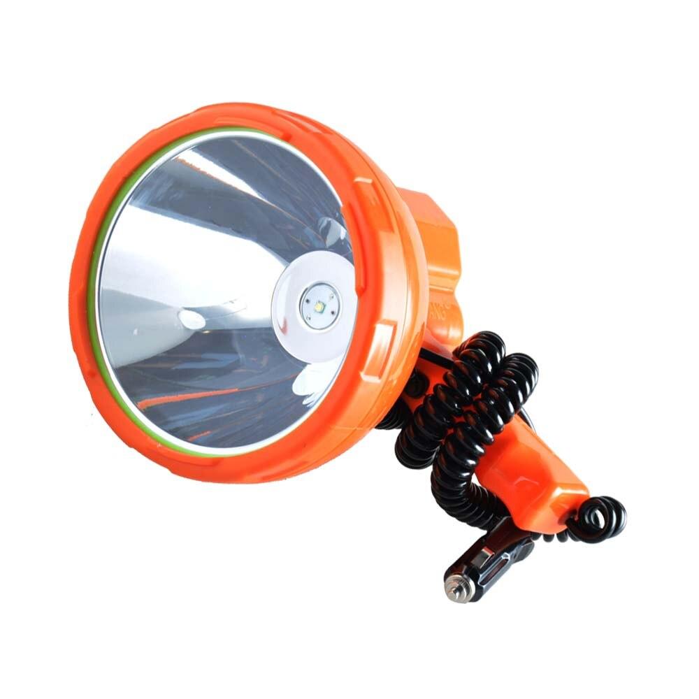 12v 1000m lâmpada de pesca, 50 w led luz veículo-montado holofote led, projetor portátil brilhante super para acampar, carro, caça