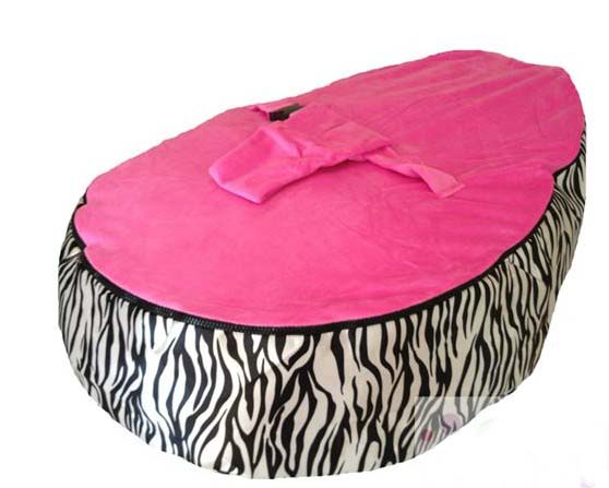 Free Shipping Disco Convertible  Baby Beanbag Chair, Two Tops Baby Beanbags Cover Only Zaba