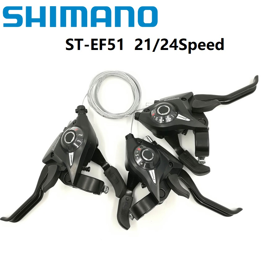 0df683f9d735 SHIMANO EF51 3 7 8 21 24 Speed Conjoined DIP Shift Lever Brake Levers  Mountain