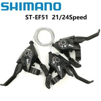 SHIMANO ST EF51 Fiets Derailleur 3*7/8 21/24 Speed Siamese DIP Versnellingspook Rem Hevels Berg/ vouwfiets Shifter EF500