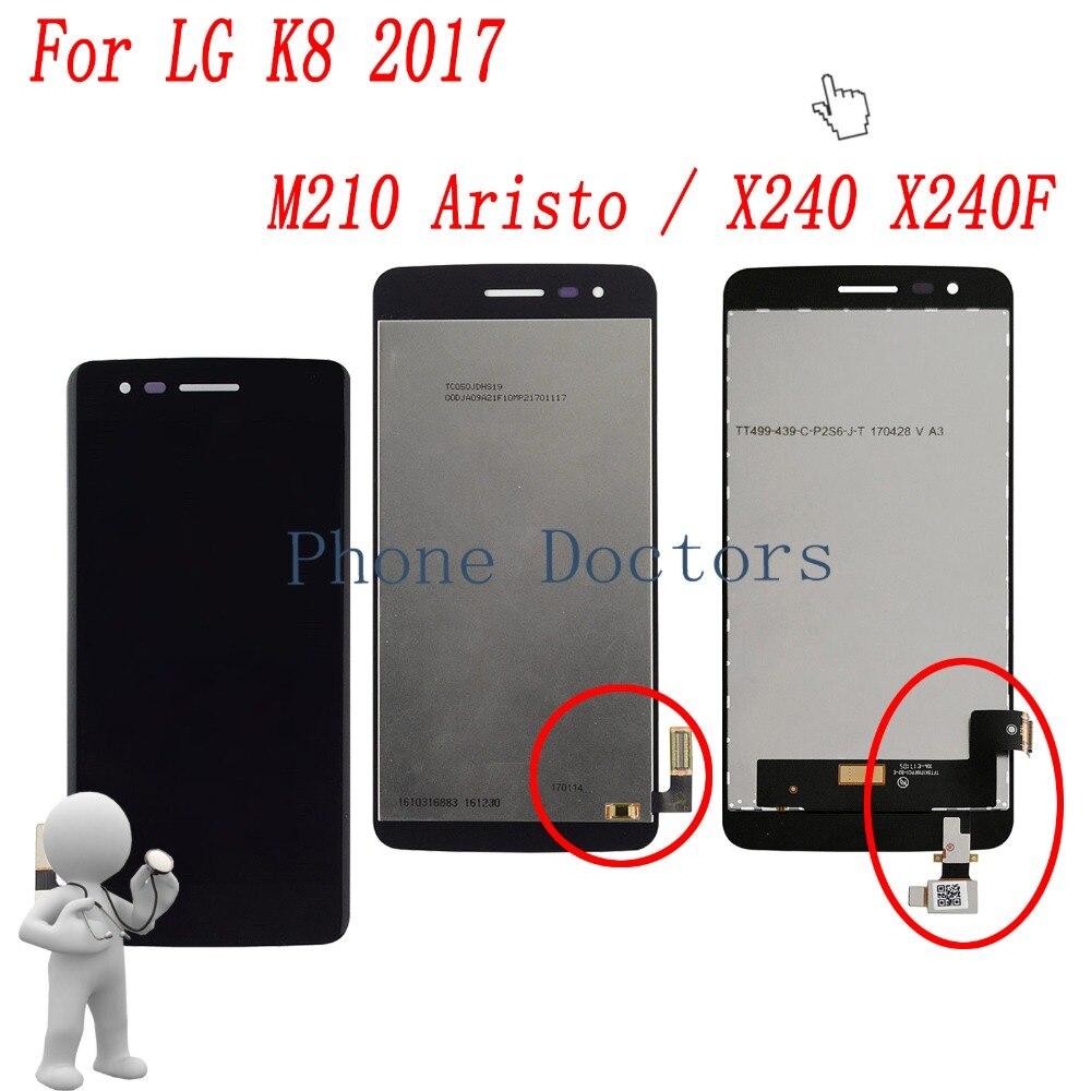 5.0  Tam LCD Ekran + Dokunmatik Ekran Digitizer Meclisi Lg K8 2017 Aristo M210 MS210 US215 M200N/X240 X240F X240H X240K5.0  Tam LCD Ekran + Dokunmatik Ekran Digitizer Meclisi Lg K8 2017 Aristo M210 MS210 US215 M200N/X240 X240F X240H X240K