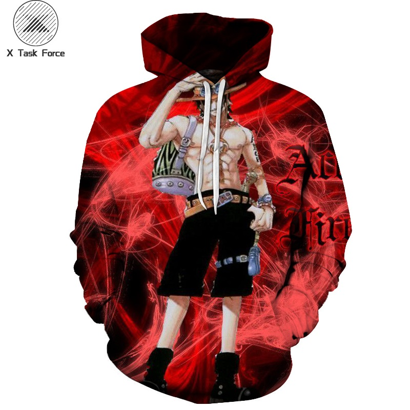 Discreet Men Women One Piece Monkey D Luffy Kuzan The Straw Hat Pirates Print 3d Pullovers Loose Hooded Hoodies Sweatshir Plus Size S-6xl Men's Clothing