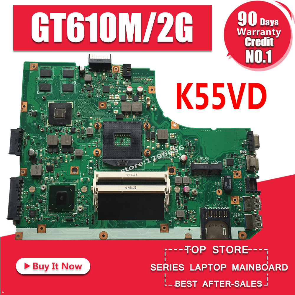 K55VD материнская плата REV: 3,1/3,0 GT610M/2 ГБ для ASUS K55V A55V R500V материнская плата для ноутбука K55VD материнская плата K55VD тест 100%