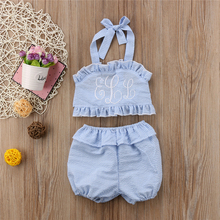 Baby Girls Bikinis 2018 New Summer Kids Two-Piece Backless Swimsuit Toddler Girls Bathing Suits Beachwear Swimwear Swimming Suit