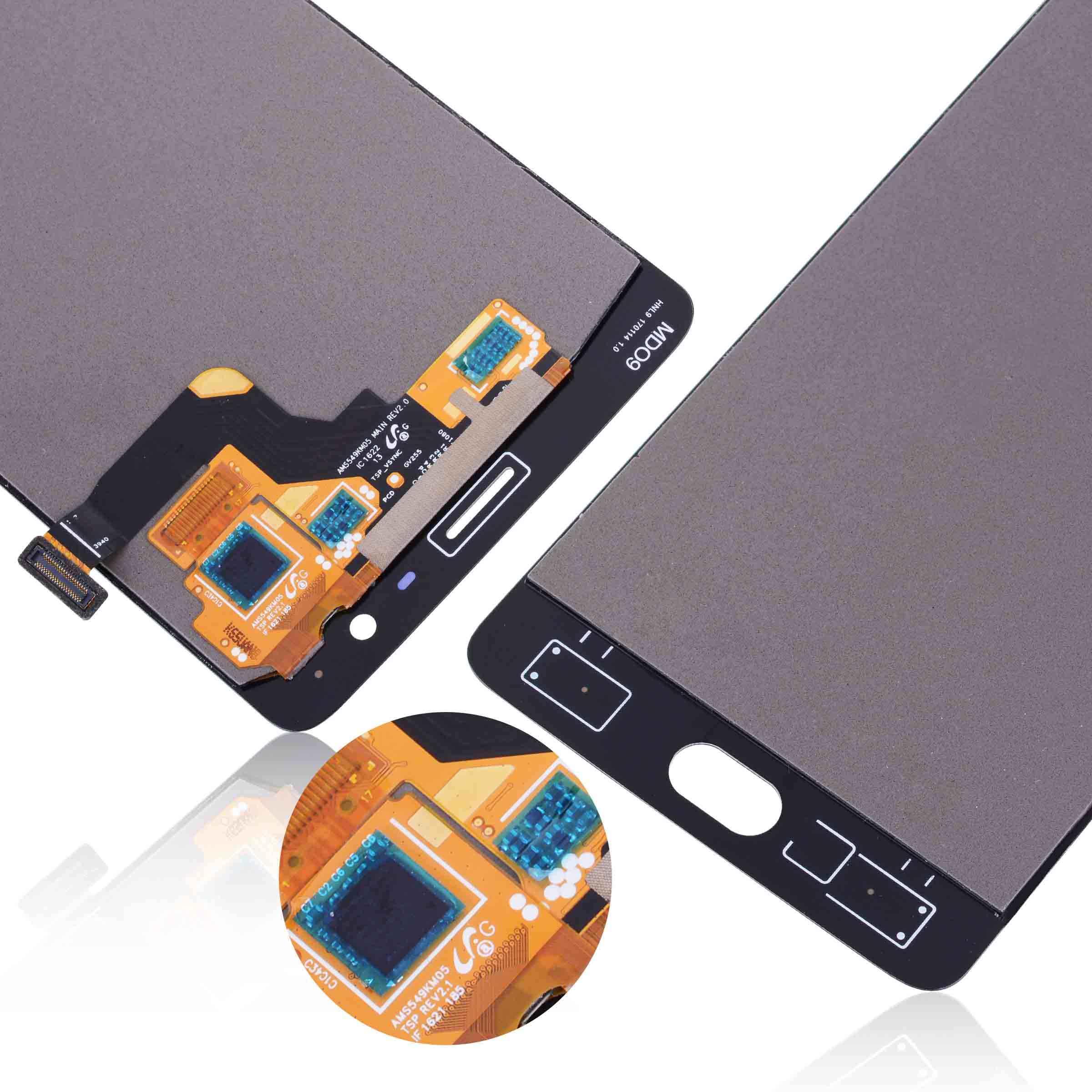 AMOLED العرض الأصلي ل Oneplus 3t عرض LCD تعمل باللمس مع الإطار استبدال ل Oneplus 3 عرض 3t LCD A3000 A3003