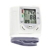 New Portable Digital LCD Display Wrist Blood Pressure Monitor Heart Beat Rate Pulse Meter Tonometer Sphygmomanometers